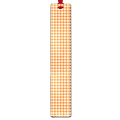 Orange Tablecloth Plaid Line Large Book Marks by Alisyart