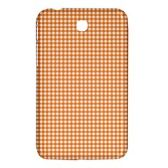 Orange Tablecloth Plaid Line Samsung Galaxy Tab 3 (7 ) P3200 Hardshell Case  by Alisyart