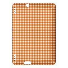 Orange Tablecloth Plaid Line Kindle Fire Hdx Hardshell Case by Alisyart