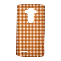 Orange Tablecloth Plaid Line Lg G4 Hardshell Case by Alisyart