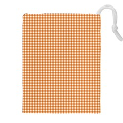 Orange Tablecloth Plaid Line Drawstring Pouches (xxl) by Alisyart
