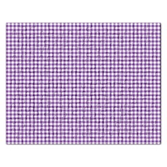 Purple Tablecloth Plaid Line Rectangular Jigsaw Puzzl by Alisyart