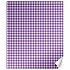 Purple Tablecloth Plaid Line Canvas 8  X 10  by Alisyart