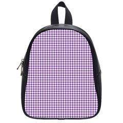 Purple Tablecloth Plaid Line School Bags (small)  by Alisyart