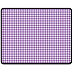 Purple Tablecloth Plaid Line Fleece Blanket (medium)  by Alisyart