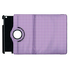 Purple Tablecloth Plaid Line Apple Ipad 2 Flip 360 Case by Alisyart
