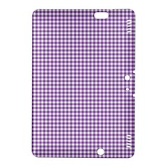 Purple Tablecloth Plaid Line Kindle Fire Hdx 8 9  Hardshell Case by Alisyart