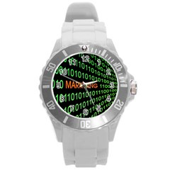 Marketing Runing Number Round Plastic Sport Watch (l) by Alisyart
