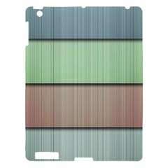 Modern Texture Blue Green Red Grey Chevron Wave Line Apple Ipad 3/4 Hardshell Case by Alisyart