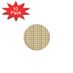 Tomboy Line Yellow Red 1  Mini Buttons (10 Pack)  by Alisyart
