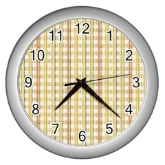 Tomboy Line Yellow Red Wall Clocks (silver)  by Alisyart