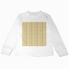 Tomboy Line Yellow Red Kids Long Sleeve T Shirts by Alisyart