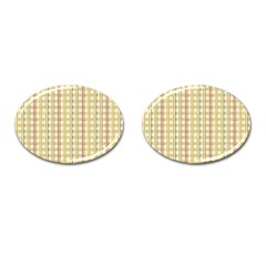 Tomboy Line Yellow Red Cufflinks (oval) by Alisyart
