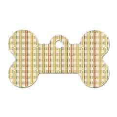 Tomboy Line Yellow Red Dog Tag Bone (two Sides) by Alisyart