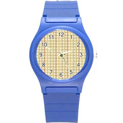 Tomboy Line Yellow Red Round Plastic Sport Watch (s) by Alisyart