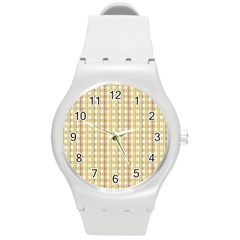 Tomboy Line Yellow Red Round Plastic Sport Watch (m) by Alisyart