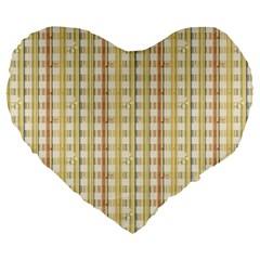 Tomboy Line Yellow Red Large 19  Premium Flano Heart Shape Cushions by Alisyart