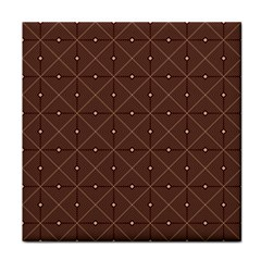 Coloured Line Squares Plaid Triangle Brown Line Chevron Tile Coasters by Alisyart