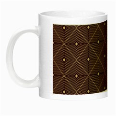 Coloured Line Squares Plaid Triangle Brown Line Chevron Night Luminous Mugs by Alisyart