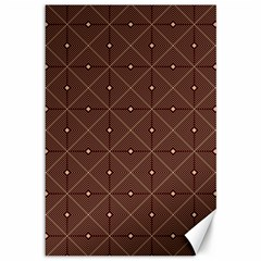 Coloured Line Squares Plaid Triangle Brown Line Chevron Canvas 12  X 18   by Alisyart