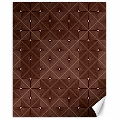 Coloured Line Squares Plaid Triangle Brown Line Chevron Canvas 11  X 14   by Alisyart
