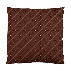Coloured Line Squares Plaid Triangle Brown Line Chevron Standard Cushion Case (two Sides) by Alisyart