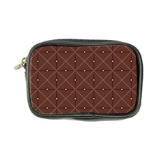Coloured Line Squares Plaid Triangle Brown Line Chevron Coin Purse by Alisyart