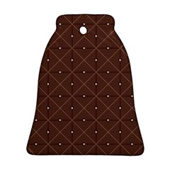 Coloured Line Squares Plaid Triangle Brown Line Chevron Bell Ornament (two Sides) by Alisyart