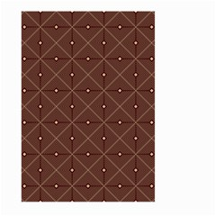 Coloured Line Squares Plaid Triangle Brown Line Chevron Large Garden Flag (two Sides) by Alisyart