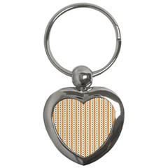 Sunflower Orange Gold Blue Floral Key Chains (heart)  by Alisyart