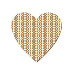 Sunflower Orange Gold Blue Floral Heart Magnet by Alisyart