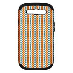 Sunflower Orange Gold Blue Floral Samsung Galaxy S Iii Hardshell Case (pc+silicone) by Alisyart