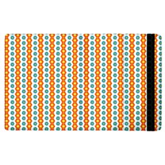 Sunflower Orange Gold Blue Floral Apple Ipad 3/4 Flip Case by Alisyart