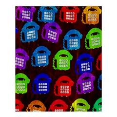 Grunge Telephone Background Pattern Shower Curtain 60  X 72  (medium)  by Amaryn4rt