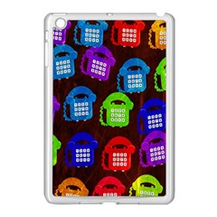 Grunge Telephone Background Pattern Apple Ipad Mini Case (white) by Amaryn4rt