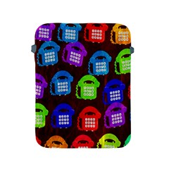Grunge Telephone Background Pattern Apple Ipad 2/3/4 Protective Soft Cases by Amaryn4rt