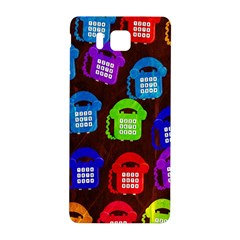 Grunge Telephone Background Pattern Samsung Galaxy Alpha Hardshell Back Case by Amaryn4rt