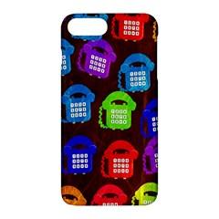 Grunge Telephone Background Pattern Apple Iphone 7 Plus Hardshell Case by Amaryn4rt