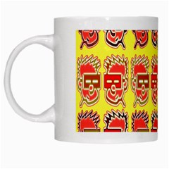 Funny Faces White Mugs by Amaryn4rt