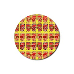 Funny Faces Rubber Coaster (round)  by Amaryn4rt