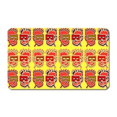 Funny Faces Magnet (rectangular) by Amaryn4rt