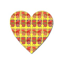 Funny Faces Heart Magnet by Amaryn4rt