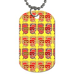 Funny Faces Dog Tag (one Side) by Amaryn4rt