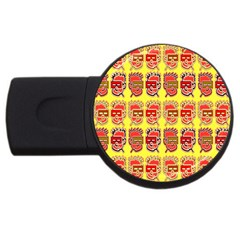 Funny Faces Usb Flash Drive Round (4 Gb) by Amaryn4rt