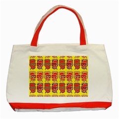 Funny Faces Classic Tote Bag (red) by Amaryn4rt
