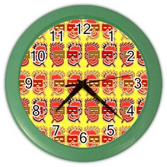 Funny Faces Color Wall Clocks by Amaryn4rt