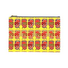 Funny Faces Cosmetic Bag (large)  by Amaryn4rt