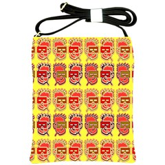 Funny Faces Shoulder Sling Bags by Amaryn4rt