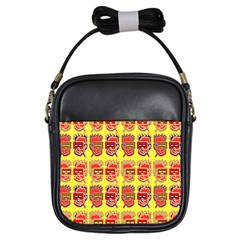 Funny Faces Girls Sling Bags by Amaryn4rt