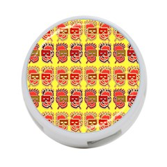 Funny Faces 4 Port Usb Hub (two Sides)  by Amaryn4rt